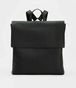 Eileen Fisher Black Buttery Leather Backpack Bag $318 NWT