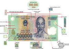 1 Million Vietnam Dong (2 x 500,000 Vnd) Bank Note Million Vietnamese - Verified