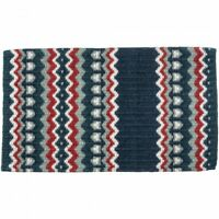 Tough 1 Slate Blue Multi Tucson Wool Saddle Blanket Horse Tack Equine