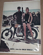 1967 BSA VICTOR VINTAGE MOTORCYCLE AD POSTER 24x18