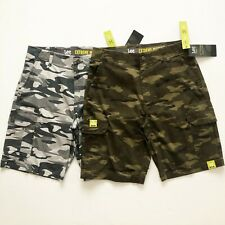 NWT Lee Performance Men's Extreme Motion Cargo Shorts Camo Cell phone Pockets