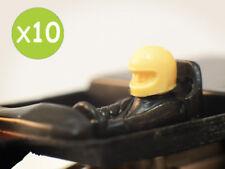 10x Polistil Replica testa con casco in resina 1/32 slot car anni '70/80