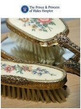 Vintage Regent of London Dressing Table Set Embroidered 3 pieces