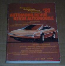 KATALOG DER AUTOMOBIL REVUE ANNO 1981 - CATALOGUE  -OTTIME CONDIZIONI