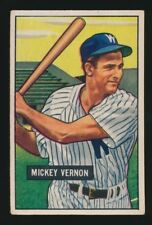 1951 Bowman Baseball -#65 MICKEY VERNON (Washington Senators) Future HOF