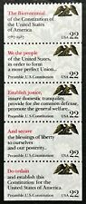 1987 #2355-2359 - 22¢ - DRAFTING THE CONSTITUTION - Booklet Strip of 5 - Mint NH