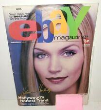 EBAY MAGAZINE PREMIERE FIRST ISSUE JANUARY 2000 NATASHA HENSTRIDGE SPECIES COVER