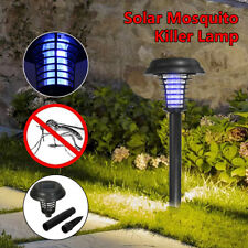 2X Solar Bug Zapper Lamp Electric Mosquito Insect Fly Pest Killer Led Light Usa