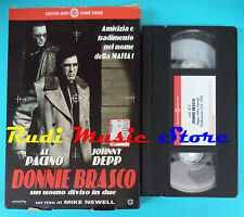 VHS film DONNIE BRASCO 1998 Al Pacino Jonny Deep CECCHI GORI  0412 (F57*) no dvd