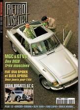 """RETROVISEUR #117 """"MGB,Bugatti 57C,Fiat 850spider,Siata Spring,Gordini"""" (REVUE)"""