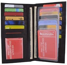 Black Men's New Leather Long Wallet Pockets ID Card Clutch Bifold Purse