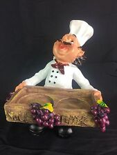 Resin Walt And Pepper Holder Chef Design For Shop/Restaurant/Home/Gift #93416