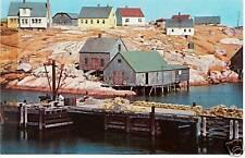 Postcard Nova Scotia Peggy's Cove 1962 Unused