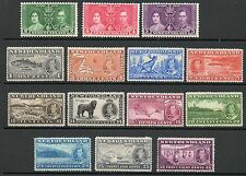 NewFoundland 1937 Coronation lightly mounted mint set Stamps