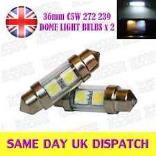 36mm 2 LED SMD C5W 272 239 Number Plate Interior Festoon bulbs Xenon White x 2
