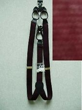 """1 1/4"""" Polyester Elastic 1.25 Wide Suspenders Leather Ends Braces New"""