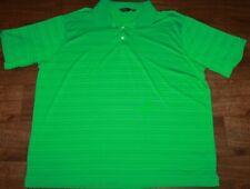 Men's Walter Hagen Essentials Green Stripe Short Sleeve Golf Polo Shirt XXL