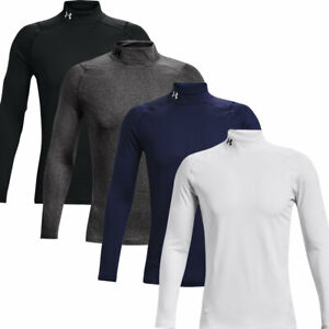 Under Armour Mens ColdGear Armour Stretch Fitted Mock Base Layer