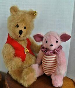OOAK POOH and PIGGLET by Award winning teddy bear artist Jay R Hadly
