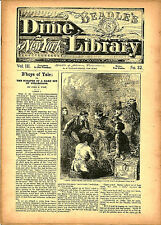 dime novel; BEADLE'S NY DIME LIBRARY #32: B'hoys of Yale; or, The Scrapes of a H
