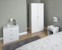 Modern Bedroom Furniture Set Wardrobe Drawer Chest Bedside Table