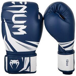 Venum Challenger 3.0 10 oz Boxing Gloves Navy Blue & White