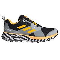 adidas Terrex Two GTX Mens Trail Running Trainer Shoe Black/Yellow/White