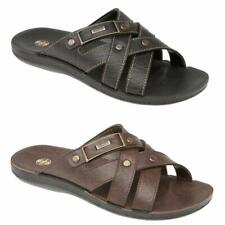 MENS SUMMER SANDALS NEW CASUAL WALKING FAUX LEATHER MULES BEACH FLIP FLOP SHOES