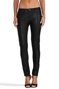 "NWT WOMEN'S D-ID ""STURGIS"" SKINNY PANTS RINSE(FAUX LEATHER) STY#1004-3333 SZ:25"