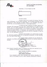QSL Sticker Radio Nacional de Espana en Cantabria Santander Spain 1995 AM DX SWL