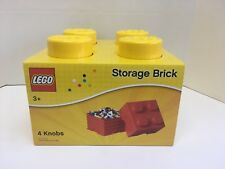 New LEGO Storage Brick Box 4 Knobs Yellow