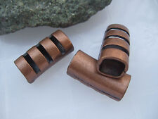 10pcs Antique Copper Bar Tube Slider Spacer For 10*8.5mm Licorice Leather Cord