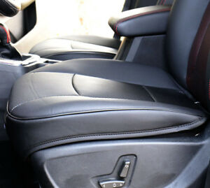Pu Leather Deluxe Car Cover Seatblack Front Cover Universal Protector Cushion