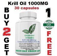 Krill Oil 1000MG Omega 3 Fatty Acids EPA-DHA-Astaxanthin Made USA Free shipping