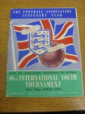 11/04/1963 UEFA Youth Tournament: In England - At Various Grounds in Southern Co