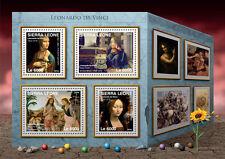 Sierra Leone 2016 MNH Leonardo Da Vinci 4v M/S Lady with Ermine Art Stamps