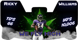 Custom Minnesota Vikings Ricky Williams Football Helmet Visor, W Unbranded Clips