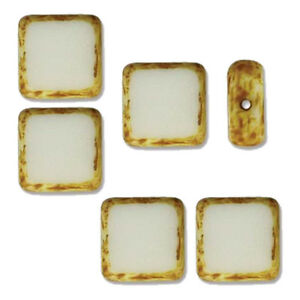 Table Cut Square 10x10mm Czech Glass Beads 14 Beads U-Pick