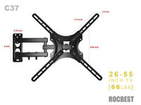 "Full Motion Tilt Swivel TV Wall Mount Bracket 26"" - 55"" TV Screen"