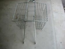Vintage Collectible Bicycle Bike Double Basket Newspapers, Groceries