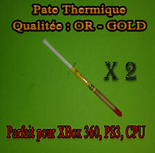 2 x Pate Thermique OR - GOLD CPU INTEL, AMD, CPU , GPU , PS3 , XBOX 360