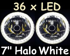 "Ford F100 F150 F250 F350 Bronco Pick Up White LED Halo 7"" JTX Round Headlights"