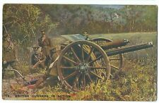 Scarce British Gunners in Action PPC, Unposted, From French Official Photos