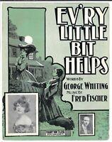 BLACK AMERICANA Sheet Music EV'RY LITTLE BIT HELPS Gladys Fisher 1904