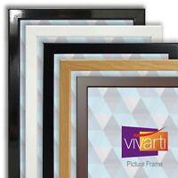 Vivarti Square Photo Picture Frame Ready Made Black White Oak Gold Silver Cherry