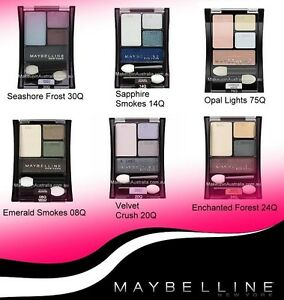 Expert Wear Gemey Maybelline Quatuor Shadow Blush Eyelids 14Q Sapphire Smokes