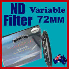 72mm Neutral Density ND filter adjustable variable ND2 to ND400 OZ stock
