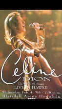 Celine Dion Live In Hawaii 🌺 1998 Original Vintage Hawaii Concert Poster
