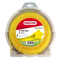OREGON YELLOW STARLINE STRIMMER TRIMMER LINE BRUSHCUTTER LINE 3mm x 71 metres