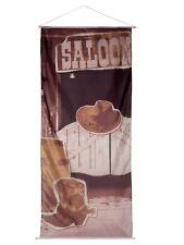 """240 X 100cm Banner """"wild west Saloon"""" Party Accessoires"""